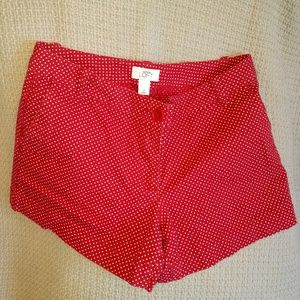 "LOFT 3.5"" inseam red shorts"